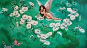 Artistic Colorful Fairy Flower White Flower 3624x2516 wallpaper