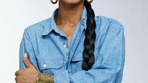 Sade Adu Singer Freckles Braids Hoop Earrings Jeans Thick Eyebrows Women Long Hair Red Lipstick Brac 1125x1500 Wallpaper