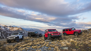 Black Car Car Jeep Jeep Wrangler Red Car Suv Vehicle White Car 3000x2000 wallpaper