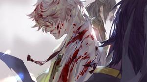 Blood Gintoki Sakata 1920x1080 Wallpaper