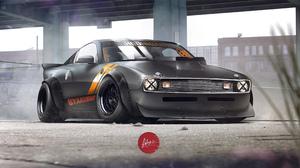 Artistic Black Car 3508x1860 wallpaper