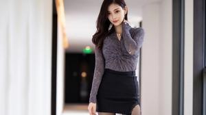 Women Model Brunette Asian Looking At Viewer Portrait Indoors Women Indoors 2560x1707 Wallpaper