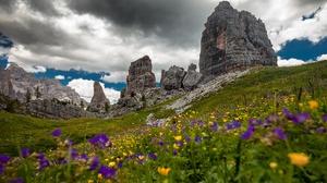 Flower Cloud Rock Alps 5036x3357 Wallpaper