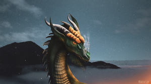 Digital Dragon Night 1920x1080 Wallpaper