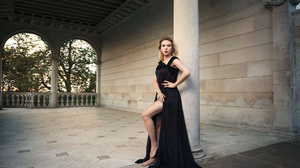 Actress American Black Dress Blonde Scarlett Johansson 2560x1707 Wallpaper