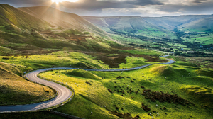 Cow Hill Pasture Road Sunbeam 1920x1200 Wallpaper
