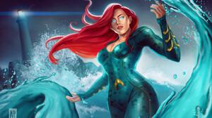 Blue Eyes Girl Long Hair Mera Dc Comics Red Hair Woman 1920x1342 Wallpaper