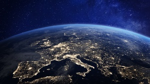 Earth Europe From Space Space 1920x1080 Wallpaper