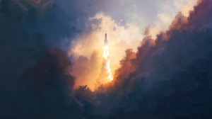 Rocket Sky 2560x1440 Wallpaper