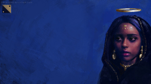 Blue Painting Women Fantasy Art 3840x2160 Wallpaper