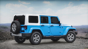 Blue Car Jeep Jeep Wrangler 3000x1661 wallpaper