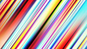 Stripes Geometry Colorful Digital Art Gradient Blur 1920x1080 Wallpaper