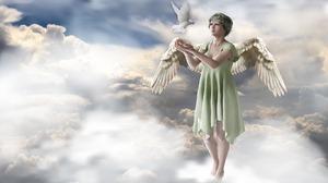 Angel Cloud Dove 1920x1440 Wallpaper