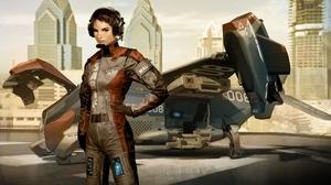 Deus Ex Deus Ex Human Revolution Feridah Malik Futuristic Girl Headphones Human Sci Fi Spaceship 2560x1600 Wallpaper