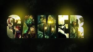Assassin 039 S Creed Batman Arkham City Bioshock Dead Space Digital Art Gamer Typography 1920x1080 wallpaper