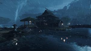 Playstation 5 Ghost Of Tsushima Japan Video Games Rain 3840x2160 Wallpaper