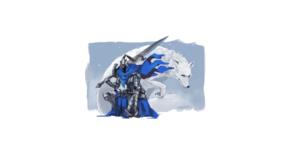 Dark Souls Artorias The Abysswalker Great Grey Wolf Sif Armor Knight Sword Cape Xuetu13 2560x1440 Wallpaper