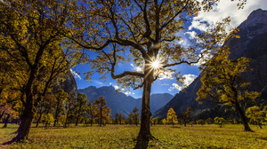 Tree Austria Valley Cloud Mountain 2048x1365 Wallpaper
