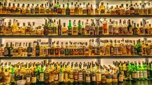 Bottles Alcohol Whiskey Whisky 2500x1402 Wallpaper