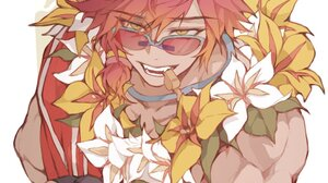 League Of Legends Riot Games Sett League Of Legends Pool Party Sett Pool Party Redhead Yellow Eyes W 988x1360 Wallpaper