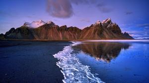 Beach Mountain Nature Reflection 2048x1366 Wallpaper