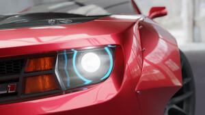 Pavel Golubev Camaro Camaro ZL1 Car Vehicle Red Cars Digital Art ArtStation 2560x1440 wallpaper