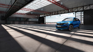 Blue Car Car Compact Car Suv Vehicle Skoda Skoda Karoq 2800x1905 Wallpaper