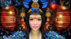 Woman Girl Chinese Colorful Flower 1920x1200 Wallpaper