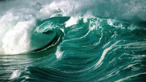 Waves Water Blue Green Ocean View Surf Green 1999x1333 Wallpaper