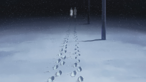 Steps Snow 5 Centimeters Per Second 1920x1080 Wallpaper