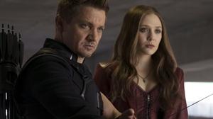 Captain America Civil War Elizabeth Olsen Hawkeye Jeremy Renner Scarlet Witch 4000x2667 Wallpaper
