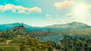Screen Shot The Witcher The Witcher 3 Toussaint The Witcher 3 Wild Hunt Blood And Wine Video Games S 1920x1080 wallpaper