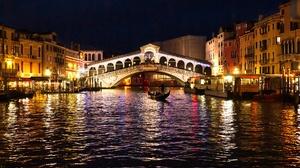 Bridge Canal City Italy Night 1920x1280 Wallpaper