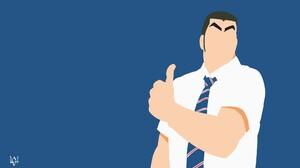 Ore Monogatari Gouda Takeo Anime Men Simple Background Anime Tie 1900x1080 wallpaper