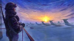 Sunrise Soldier Aircraft Transport Aircraft Warplane Sky Russia 2560x1440 Wallpaper