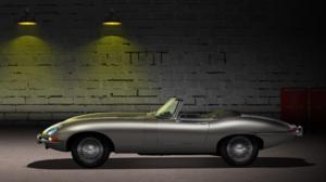 Jaguar E Type Parking Lot Car Vehicle Oldtimer Oldtimers Silver Cars Digital Art Render CGi 3840x2160 Wallpaper