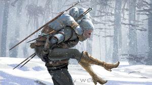 WLOP The Witcher Cirilla Video Games Geralt Of Rivia Snow White Hair Artwork Digital Art Men Women T 3840x2160 Wallpaper