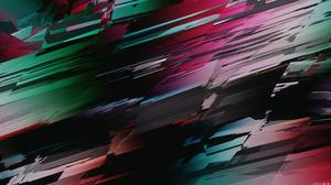 Glitch Art Abstract 3D Abstract Cinema 4D 3840x2160 Wallpaper
