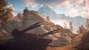 Horizon Zero Dawn Horizon Zero Dawn Rust Tank Machine Wreck Moss 3840x2160 Wallpaper