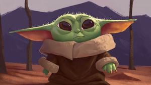 Baby Yoda Star Wars 3466x2484 Wallpaper