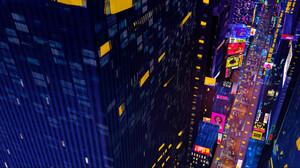 Artwork Digital Art Cityscape Night Building 3840x1635 Wallpaper
