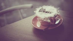 Coffee Mug Pastel Cold Vintage Mountain Top 2560x1440 Wallpaper