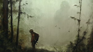 Kong Skull Island Rain Silhouette 1920x1277 wallpaper