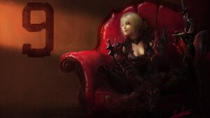 Artwork Fantasy Art Women Armor Final Fantasy 4000x2512 Wallpaper