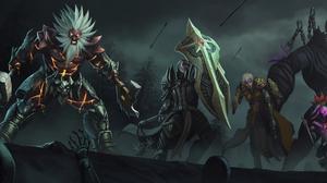 Barbarian Diablo Iii Crusader Diablo Iii Demon Hunter Diablo Iii Diablo Iii Reaper Of Souls Monk Dia 5833x2000 Wallpaper