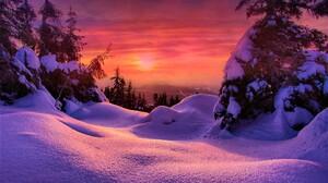 Winter Snow Sky 2048x1363 wallpaper
