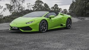 Lamborghini Huracan Lp 610 4 Lamborghini Car Green Car Sport Car Supercar 4096x2730 Wallpaper