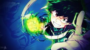 Boku No Hero Academia Green Eyes Green Hair Izuku Midoriya My Hero Academia Smile Teeth Two Toned Ha 1920x1080 Wallpaper