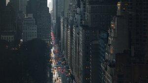 City Building Traffic Lights Mist New York City Skyscraper Portrait Display Street Central Park 1200x1500 Wallpaper