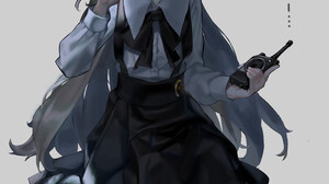 Hatoba Tsugu School Uniform Brunette Long Hair Finger On Lips Looking At The Side Vertical Anime Gir 2751x4059 Wallpaper